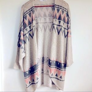 MAURICES OPEN CARDIGAN AZTEC WITH LUREX